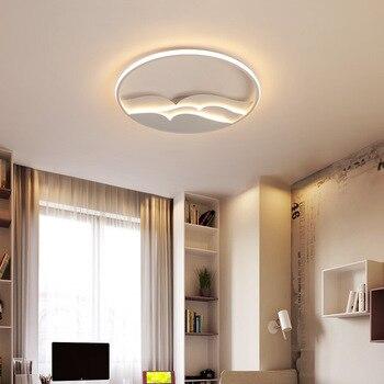 KM ngồi phòng ngủ phòng đèn LED vòm đèn Acrylic Mòng Biển hình tròn cực ký hợp đồng và đương đại L hấp thụ Dome ánh sáng
