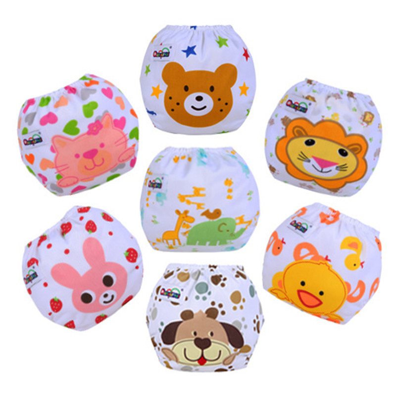 1PC Print Baby  Diapers /Children Cloth Nappies/Reusable Nappies/Kids Diapers Waterproof / Washable/Free Size Ajustable