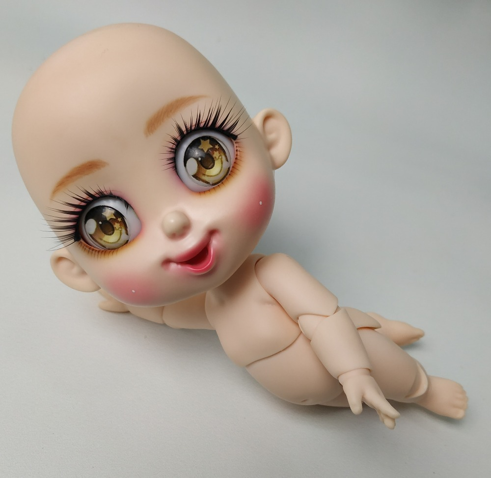 BJD 1 8 Bru naked smile dolls model body girls nude high quality doll give up