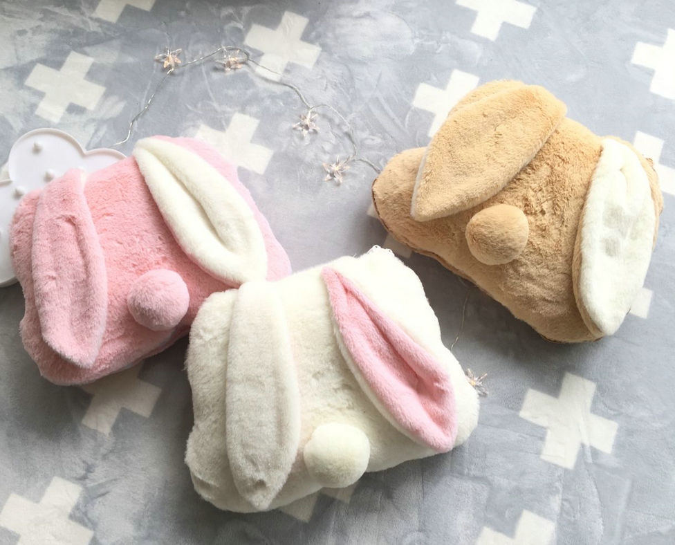 Easter Buddy 40cm Rabbit 2 In 1 Air-Condition Blanket 1*1.7m  Ins Long Ears Rabbit Pillows Cushion With Blanket Plush Toy Gift