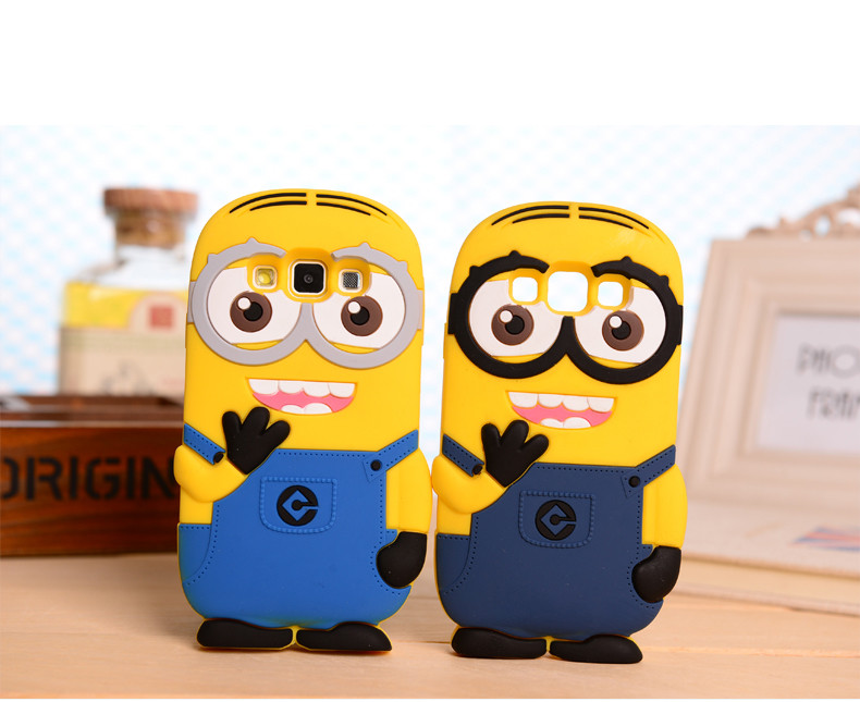 Yellow Minion Soft Silicone Phone Cases For Samsung
