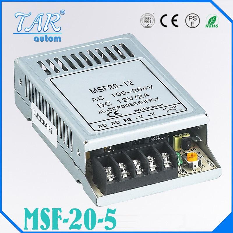 20 W 5 V Ultra mince a sortie unique de commutation alimentation de bande de lumiere LED transformateur 5 V