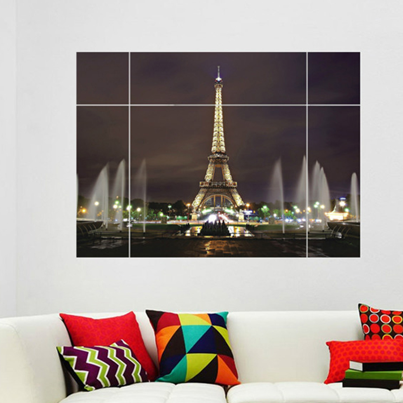 Paris lights wall mural promotion shop for promotional for City lights mural