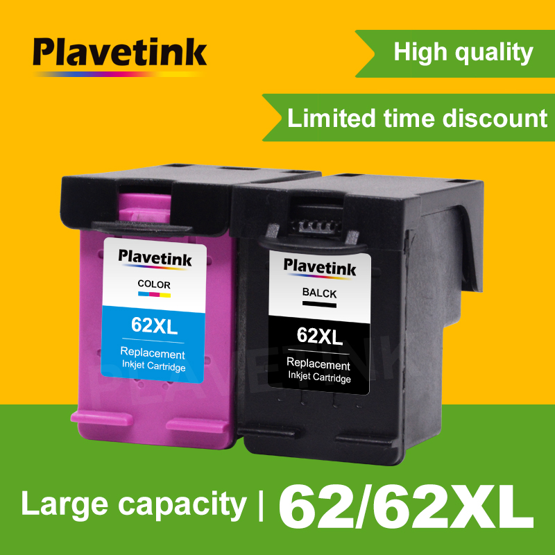 Plavetink For HP 62 Compatible Ink font b Cartridge b font Replacement for HP 62 XL