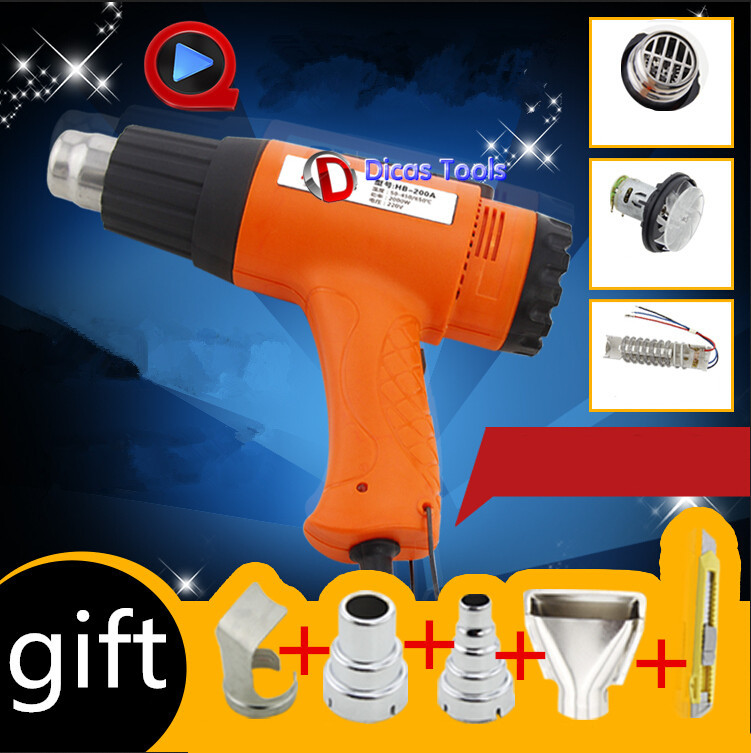 hot selling 240V 1600W heat gun hot air gun industrial drying gun hot air blower plastic welding torch with 4 nozzle HB-160A 2016 hot sale new brand 1600w hot air welder plastic welding gun set with 2x speed welding nozzle and 1x silicone roller