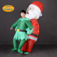 Halloween inflatable costumes Santa Claus fancy mascot cosplay