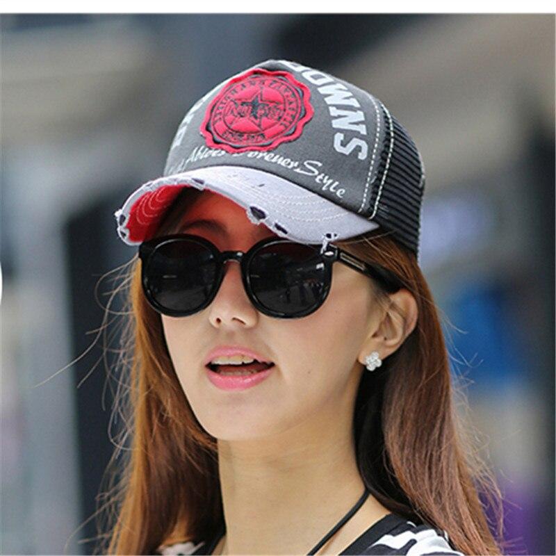 Hat female summer sun-shading cap baseball cap mesh cap female casual  summer hat sun Trucker hat 7946fe6b88f