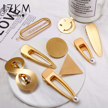 Gold Silver Color Hairpin For Women Punk Geometric Infinite Hair Clips