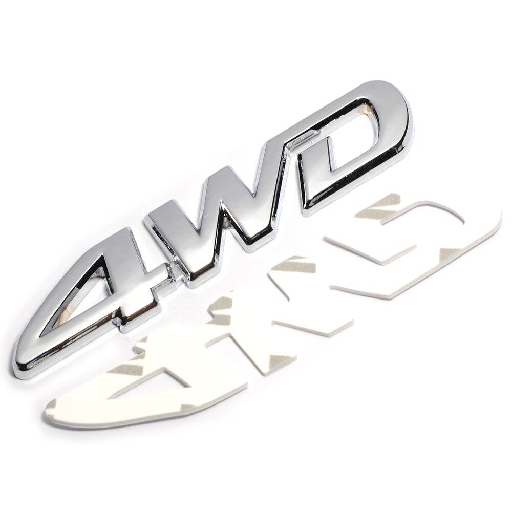 Image 2 - 3D хромированный металл Стикеры 4WD Эмблема 4X4 переводная картинка автомобильный Стайлинг для Honda Civic CRV соглашение Защитные чехлы для сидений, сшитые специально для Suzuki Grand Vitara Swift SX4 Стикеры-in Наклейки на автомобиль from Автомобили и мотоциклы