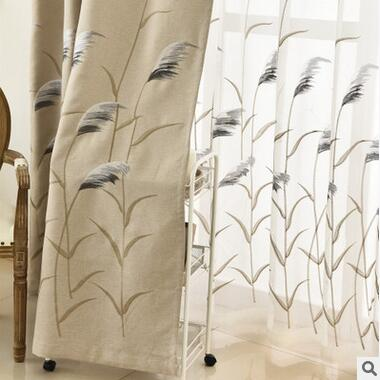 Upmarket Korean Fine Embroidery Cloth Curtain Embroidered Voile Curtain  Living Room /Bedroom Curtain