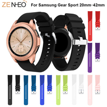 Soft Silicone For Samsung Gear Sport Watch 42mm band smart strap Replacement Accessories 20mm wristband