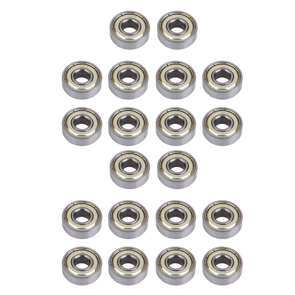 20 Pcs Double-sided Dust Cover Inline & Roller Skate Wheel Center Bearings 608 Zz (ABEC-7)- Speed Skating Scooters