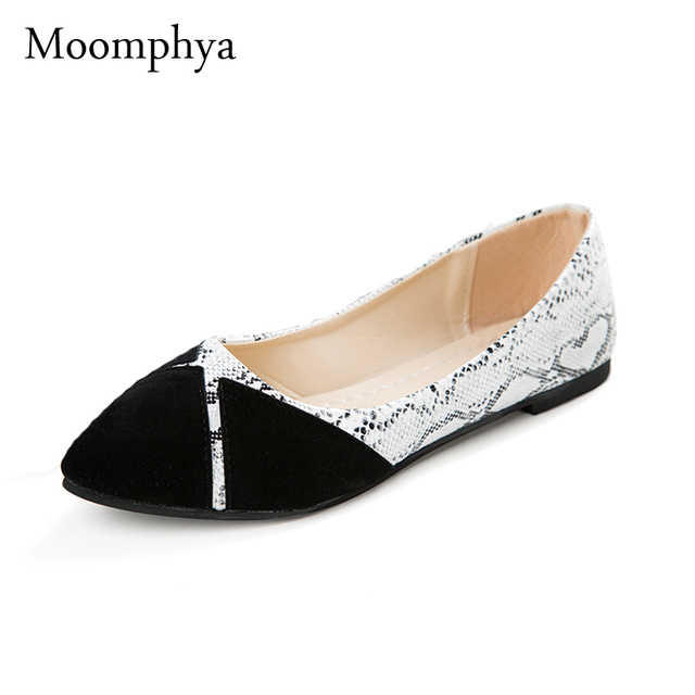 bbc2fa7d5bf2 Moomphya Brand Ladies Flat Shoes Women Flats Black Casual Shoes Sapato Womens  Loafers Zapatos Mujer