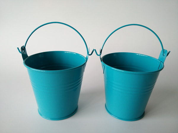 30pcslot d75h75cm cheap blue mini buckets metal tin