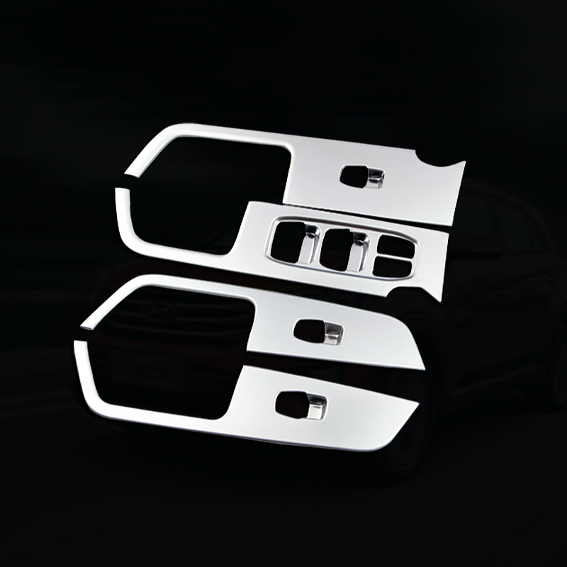 For Hyundai Creta IX25 2015 16 2017 2018 Chrome Inner door armrest Window Switch cover decoration Control Panel Auto accessors