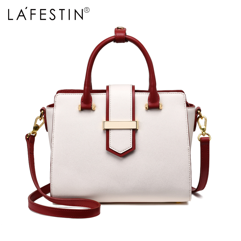 LAFESTIN Women Handbag Brand Genuine Leather Women Tote Handbag Messenger Shoulder Bags High Quality Multifunction Bolsa handbag shengdilu brand new 2018 women genuine leather high end tote shoulder messenger bag free shipping bolsa feminina