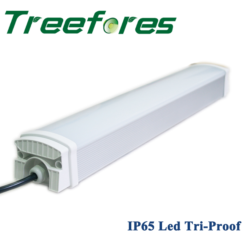 UL TUL CE IP65 4FT 40W Led Tri-Proof Light 120Lm/W Tube Light Warehouse Factory Industrial Lighting Lamp 60cm 90cm 120cm 2 3 4 industrial high bay led tri proof hanging lighting safety depot light ik10 ip65 dustproof
