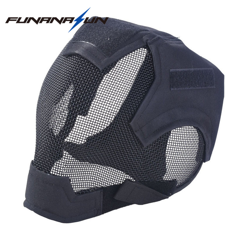 Military Airsoft Paintball Masks Tactical Steel Mesh Full Face Mask Army Outdoor Paintball Full Face Mask War Game Steel Mesk paintball party mask airsoft wire mesh spectre 1 0 full face mask bd8863