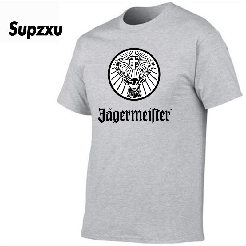 Men's Jagermeister Music Tour Logo T-shirt Fashion New Top Hip Hop Tees T Shirt Letter Tee O-Neck Tops Tee Shirts Loose Clothes