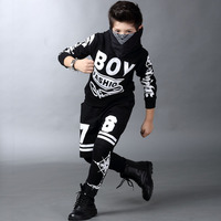 Boys Clothes Set 2pcs Kids Sport Suit Children Dance Wear For Boy Age 5 to 15 Years Teenagers Hip Hop Clothing Set