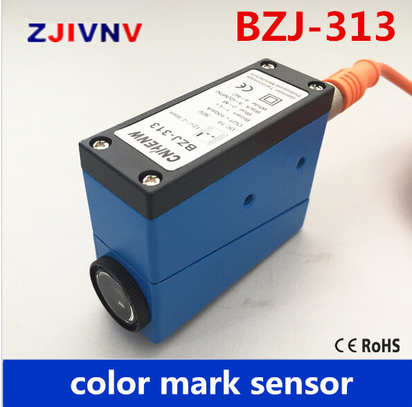BZJ-313 Packing Machine photocell switch color mark Sensors Auto tracking/rectify deviation, auto detection photoelectric eyes color mark sensor photoelectric switch for packing machine bzj 313