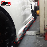 Para nissan gtr r35 2013 ver vrs estilo saia lateral de fibra carbono sob a placa acabamento brilhante porta passo extensão corpo kit tuning guarnição|Kit de carroceria| |  -