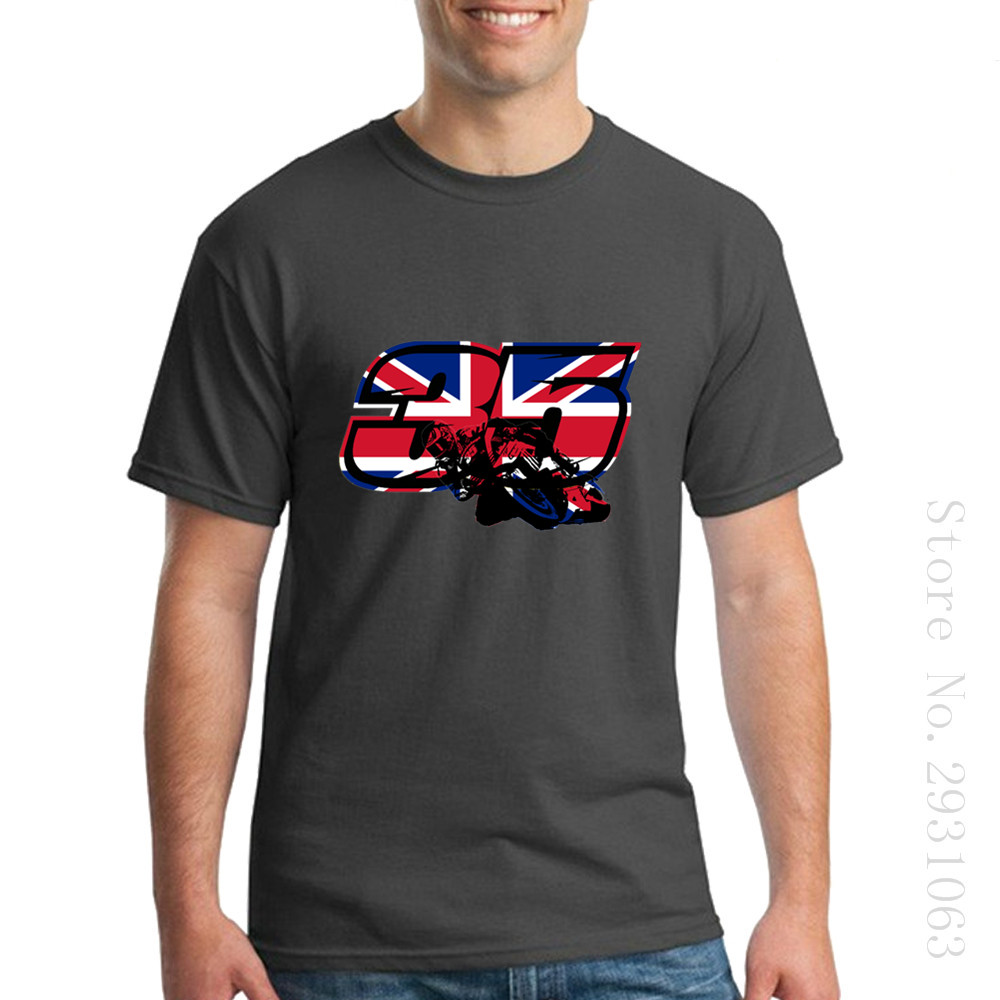 Design t shirt cheap uk - New Arrival Casual Shirts Go Cal Crutchlow In Motogp Uk Flag Design Short Sleeved Tee Shirt T Shirts Mens Plus Size Clothing