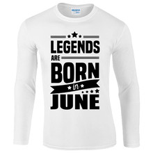 Summer Mens Print T Shirt Legends Are Born In June