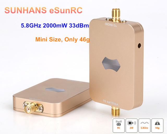 100% genuíno 10 peças sunhans esunrc sh-rc58g2w uav 33dbm wifi signal booster 5.8 ghz 2000 mw sem fio amplificador de sinal