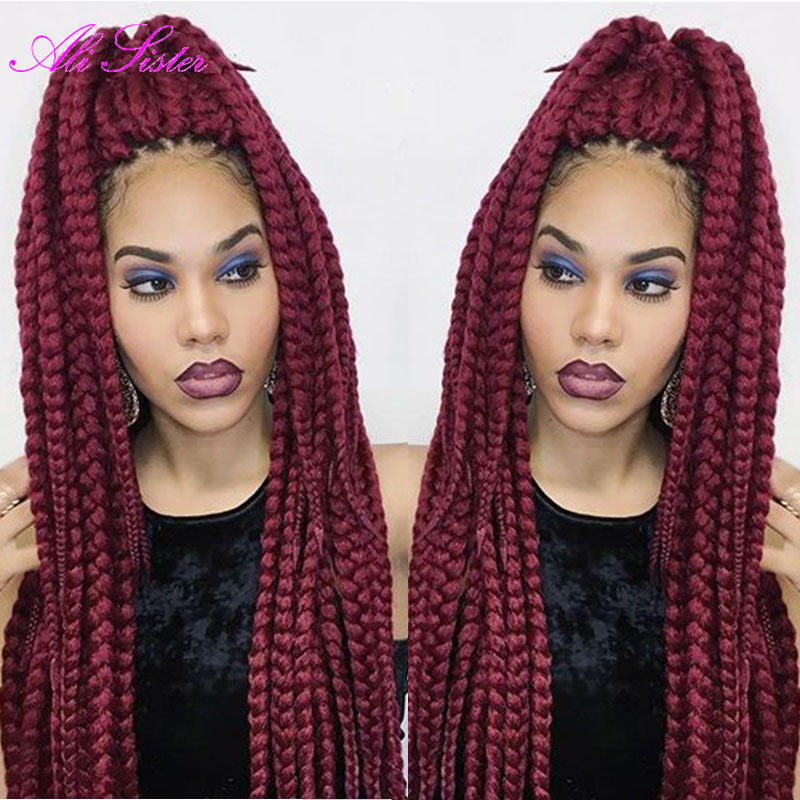 braiding hair box braid extensions synthetic crochet braids hairstyles ...