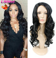 Afro Cheap Lady's Hair Wig Black Big Body Wave Full Long Synthetic Wig for Black women Natural Quality Perrucca Blanca Perruquqe