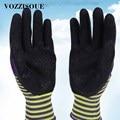 Tragen Beständig Garten Arbeits Handschuhe für Männer oder Frauen mit Bunten Polyester Schwarz Schaum Latex Nicht slip Sicherheit Schutz handschuhe-in Garten-Handschuhe aus Werkzeug bei