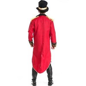 Image 2 - Cadılar bayramı vampir sihirbaz Ringmaster kostüm erkek sirk lider smokin ceket Vintage Tailcoat süslü elbise kıyafet erkek şapka