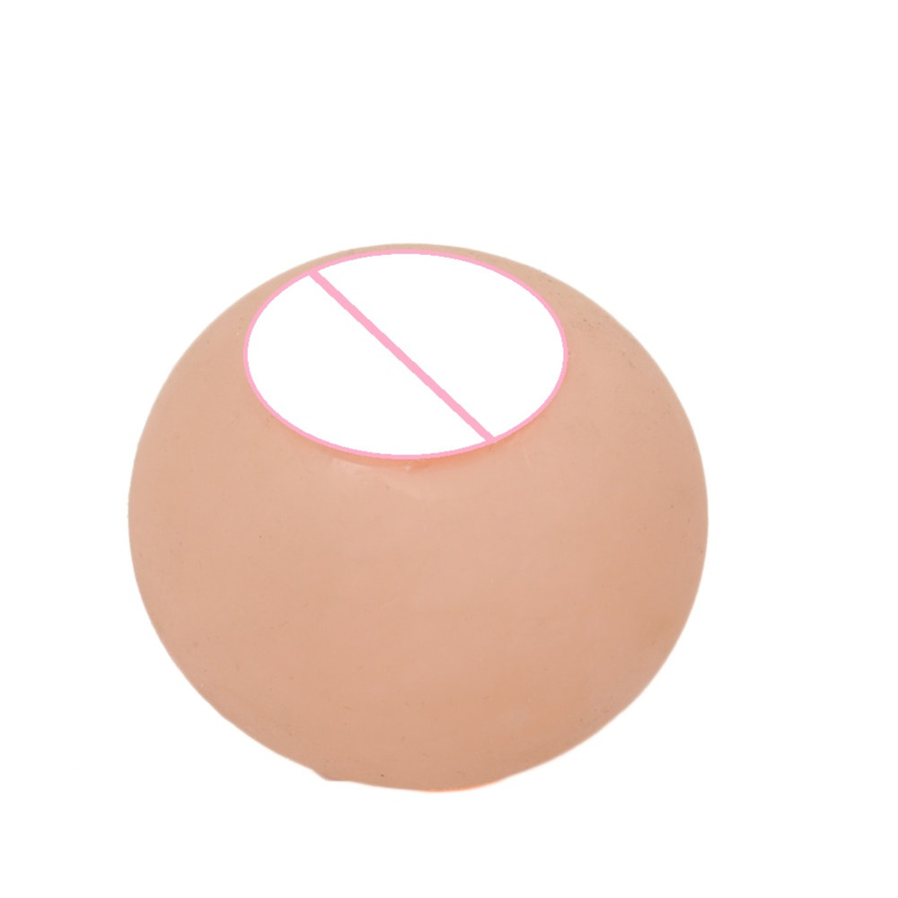 Tricky Toy Big Boobs Vent Water Polo Simulation Silicone Boob Breast Stress Reliever Ball ball shooting pig stress reliever toy 5 balls