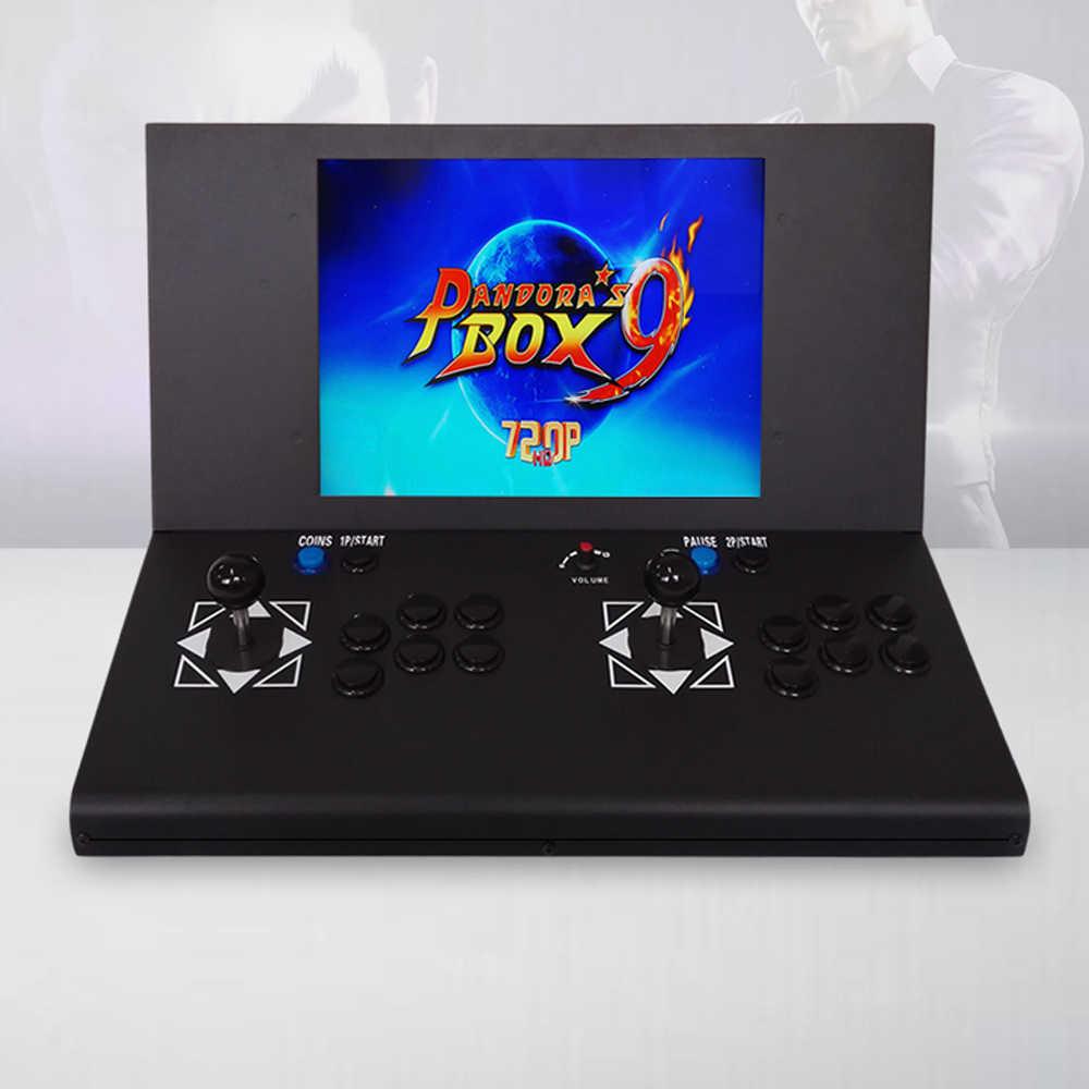 15 بوصة LCD مكتب ماكينة لعبة الأركيد مع 1500 في 1 لعبة مجلس/2 لاعب/الكروم حافة/مكبرات صوت ستيريو/ مكبر للصوت/أفقي عرض
