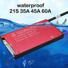 21 s 72 v bateria de lítio placa de proteção 30a 40a 60a li ion lipo polímero bms pcb 21 pilha carga pacote de descarga proteger o equilíbrio