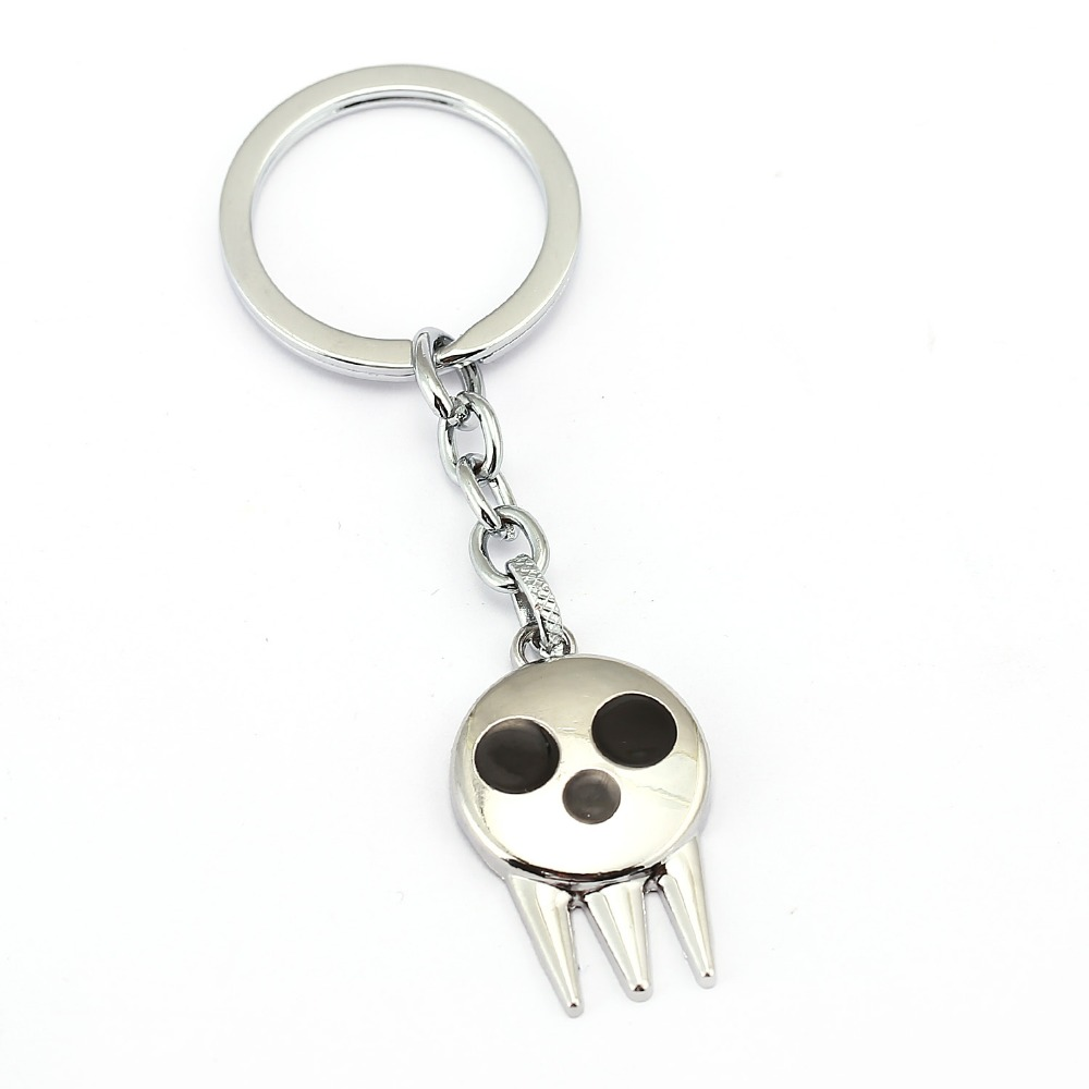 Hot Anime Soul Eater Skull Ring /& Pendant Necklace Silver Alloy Cosplay 2pcs//Set