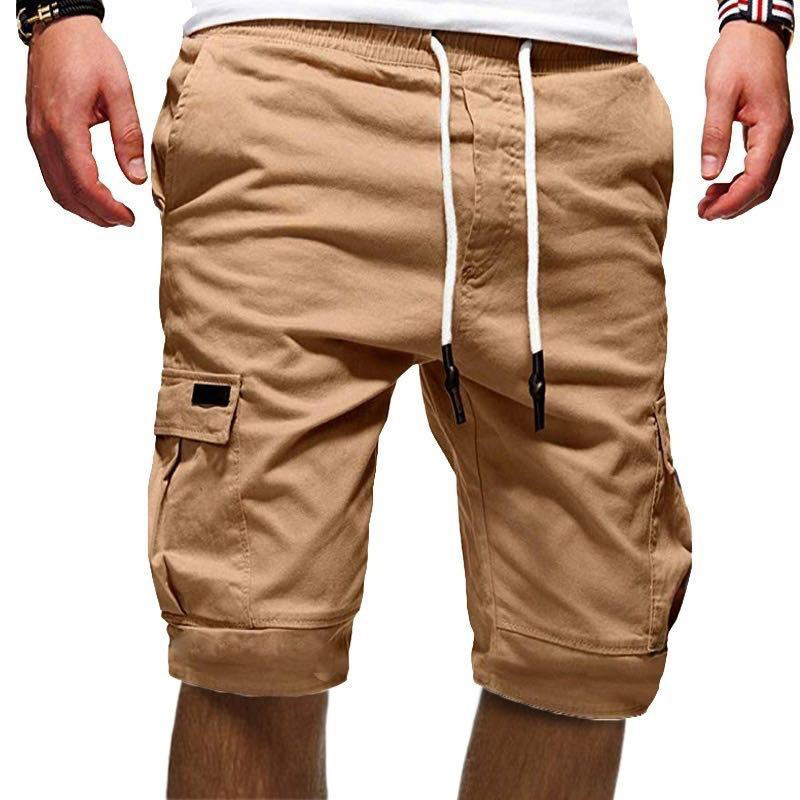 Men Half Pants Multi-pockets Loose Breathable Male Casual Pants For Summer PO66