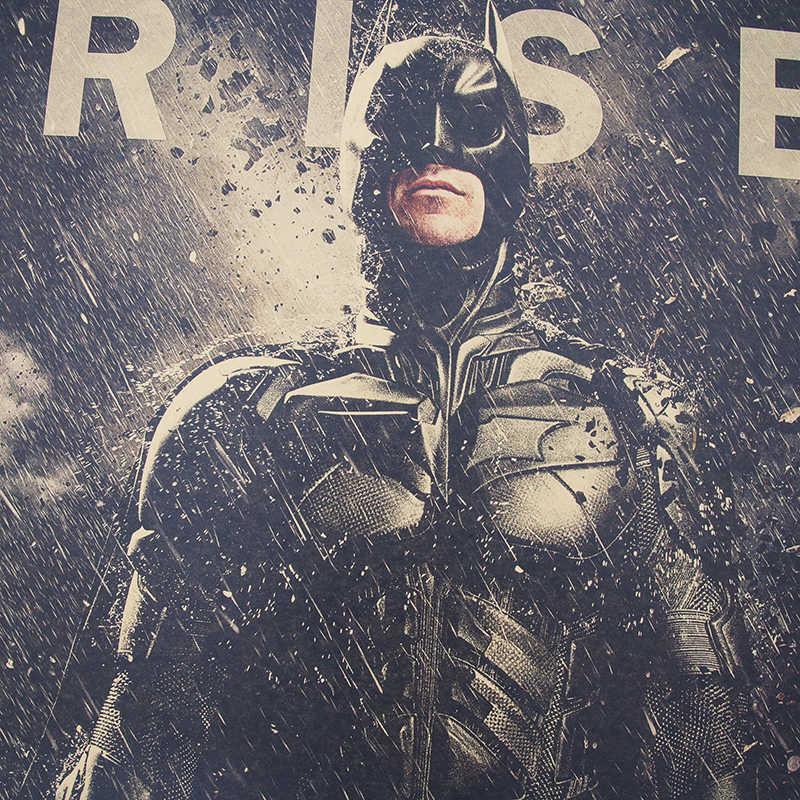 DLKKLB DC Бэтмен постер фильмов в стиле винтаж классический Темный рыцарь B Стиль Бар Кафе супергерой декор живопись 51,5x36 см стикер на стену