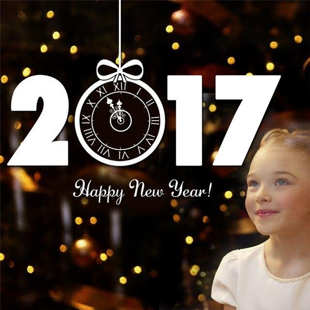 Мода Стиль С Новым Годом 2017 Рождеством Стикер Стены Окна Наклейки Декор Съемный Окно Стикер #10 Подарок 1 ШТ.