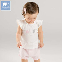 Dave bella summer baby girls clothing sets children cute suits toddler infant high quality clothes DB7235