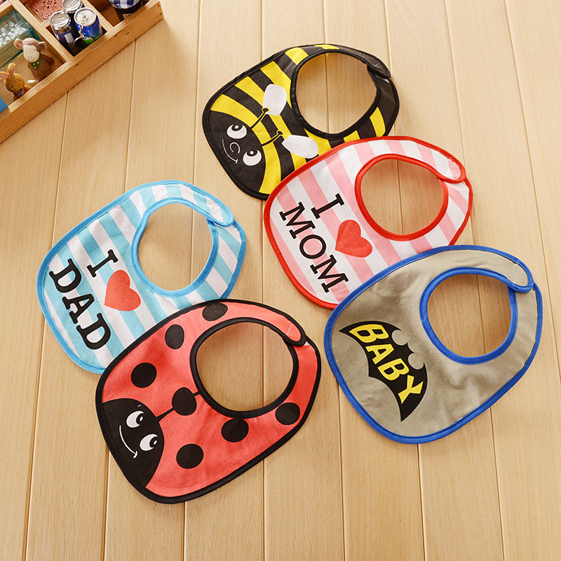 Baby bibs 25*18cm cartoon printing waterproof bibs for baby boy girl BB002 baby clothes cute accessories ...