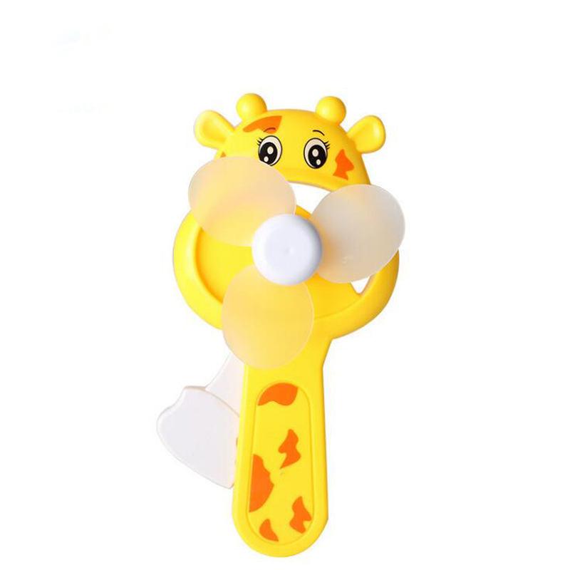 1 Pc Portable Mini Giraffe Air Cool Fan Childrens Hand-cranked Fan Toy Outdoor Supplies Summer Cool Tools Game Gags & Practical Jokes