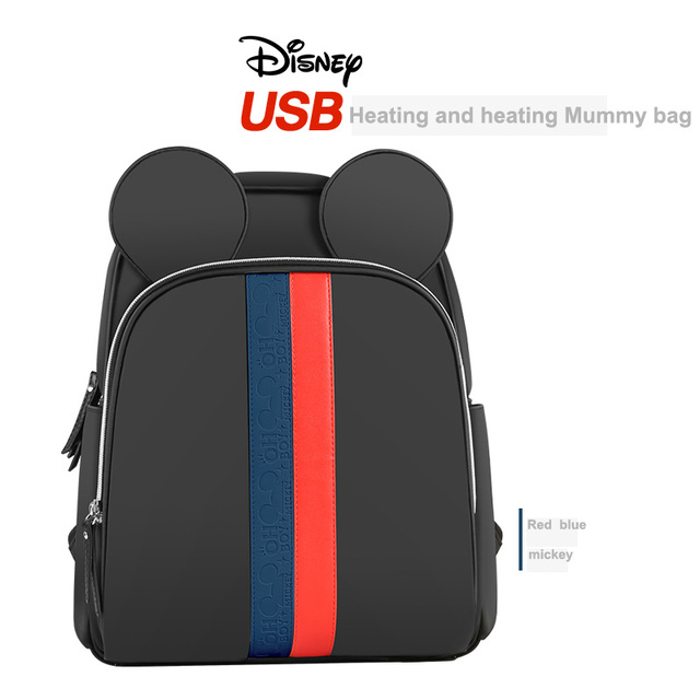 Disney Multi-function Bottle Feeding Insulation Bag With USB Mother Nappy Bags Baby Care Nappy Changing Bag 5