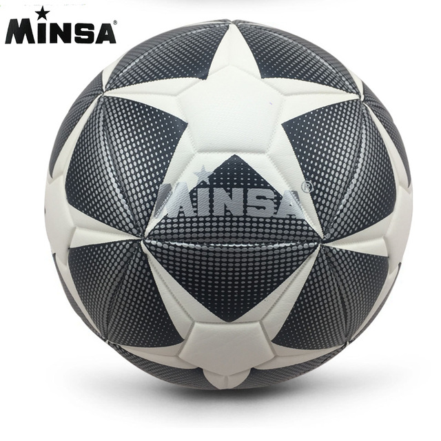 New Brand MINSA High Quality A+++ Standard Soccer Ball PU Soccer Ball Training Balls Football Official Size 5 and Size 4 bal