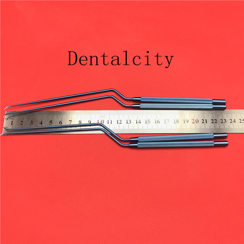Titanium Alloy Surgical Instruments Bayonet Style Micro Vessel Knife Sharp Tips Neurosurgical Instruments
