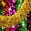 Свадебные принадлежности дети топ новый год Новогодняя Гирлянда цвет ленты гирлянда День Рождения свадьба украшение помещения новогодняя мишура новый год новогодние украшения елочные украшения