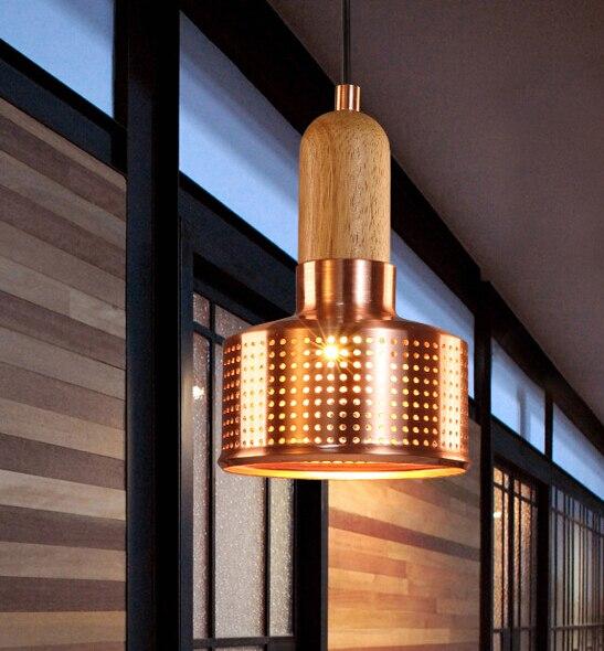 American Creative Fashion Industrial Retro Gold Pendent Light Creative Restaurant Bar Cafe Loft Pendent Light Free Shipping