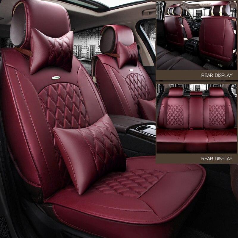 WLMWL Universel En Cuir housse De siège de Voiture pour Mazda tous les modèles mazda 3 5 6 cx7 cx-5 MX-5 cx-3 voiture accessoire de voiture