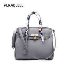VERABELLE 8 farben 2017 frauen große kapazität geldbörsen und handtasche mit bändern schloss totes PU Leder weibliche schulter/messenger tasche